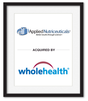 Applied Nutriceuticals Acquired by wholehealth
